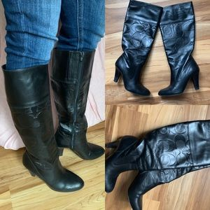 Coach Millie embossed leather boots box 5.5